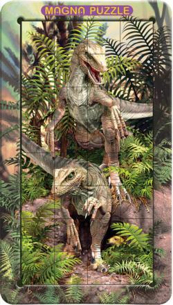 Raptors Dinosaurs Lenticular Puzzle