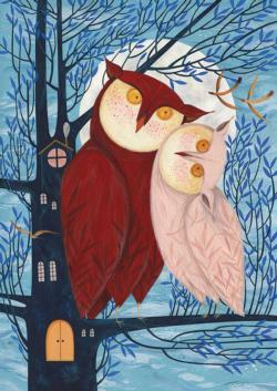 Owl Couple Owl Jigsaw Puzzle