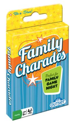 Family Charades Card Game Father's Day