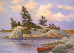 Red Canoe Lakes / Rivers / Streams Jigsaw Puzzle