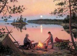Georgian Bay Moonrise Sunrise / Sunset Jigsaw Puzzle