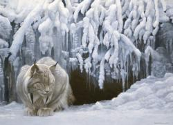 Dozing Lynx Winter Jigsaw Puzzle