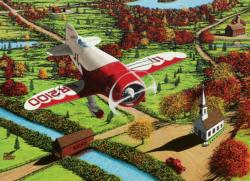 Gee Bee Over New England Planes Jigsaw Puzzle