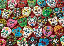 Sugar Skull Cookies Pattern / Assortment Jigsaw Puzzle