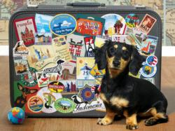 Dachshund 'Round the World Dogs Jigsaw Puzzle