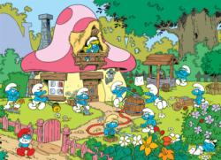 Spring Cleaning at Smurfette's Movies / Books / TV Jigsaw Puzzle