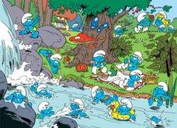 Smurfy Picnic Movies / Books / TV Family Puzzle