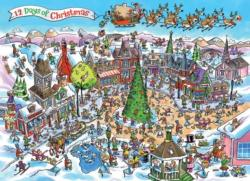DoodleTown: 12 Days of Christmas Christmas Jigsaw Puzzle