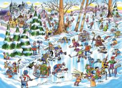 DoodleTown: Hockey Town Sports Jigsaw Puzzle