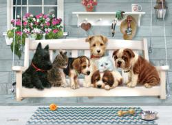Porch Pals Domestic Scene Family Puzzle
