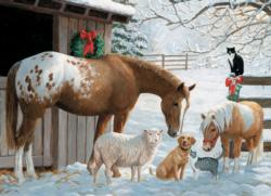 Winter Barnyard Snow Family Pieces