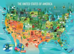 The United States of America Cartoon Family Puzzle