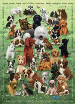 Puppy Love Collage Family Puzzle