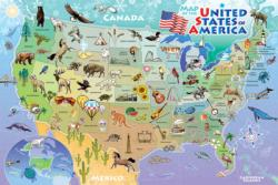 Map of the USA United States Children's Puzzles