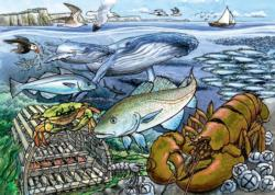 Life in the Atlantic Ocean Fish Children's Puzzles