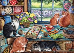 Garden Shed Cats Everyday Objects Tray Puzzle
