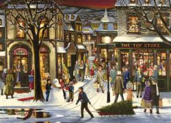Downtown Christmas Snow Tray Puzzle