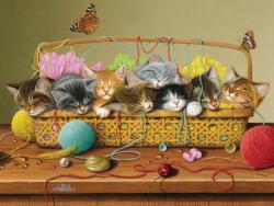 Basket Case Cats Jigsaw Puzzle