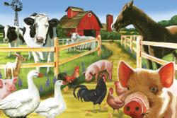 Farmyard Welcome Pig Tray Puzzle