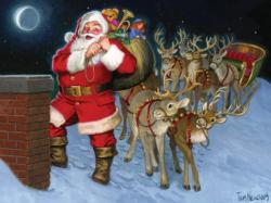 Santa by the Chimney Christmas Children's Puzzles
