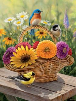 Bluebird and Bouquet Birds Tray Puzzle