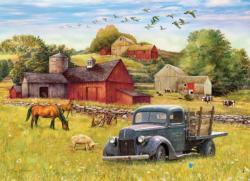 Blue Truck Farm Vehicles Children's Puzzles