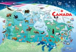 Canada Map Canada Tray Puzzle
