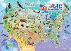 USA Map United States Children's Puzzles