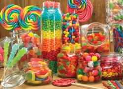 Candy Jars Pattern / Assortment Jigsaw Puzzle