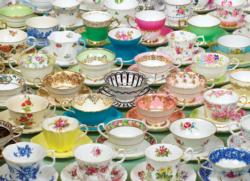 Teacups Pattern / Assortment Jigsaw Puzzle