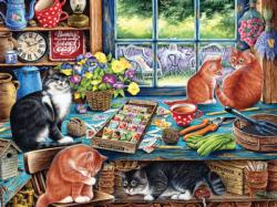 Cats Retreat Garden Jigsaw Puzzle