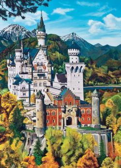 Bavarian Castle Landscape Jigsaw Puzzle