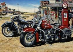 Two for the Road Motorcycles Jigsaw Puzzle