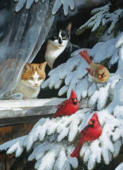 Bird Watchers Winter Jigsaw Puzzle