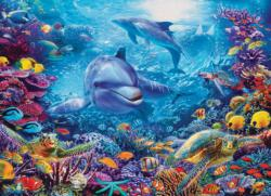 Dolphins At Play Dolphins Jigsaw Puzzle