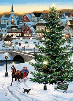 Village Tree Christmas Jigsaw Puzzle