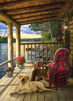 Cabin Porch Lakes / Rivers / Streams Jigsaw Puzzle