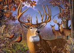 Deer And Pheasant Forest Jigsaw Puzzle