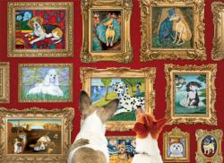 Dog Gallery Library / Museum Jigsaw Puzzle