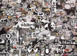 Black and White: Animals Monochromatic Impossible Puzzle