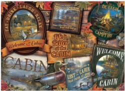 Cabin Signs Cottage / Cabin Jigsaw Puzzle