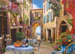 French Village Adult Beverages Jigsaw Puzzle