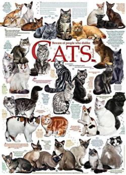 Cat Quotes Collage Jigsaw Puzzle
