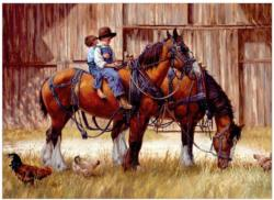 Back to the Barn Horses Jigsaw Puzzle