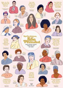 Nevertheless She Persisted Cultural Art Jigsaw Puzzle