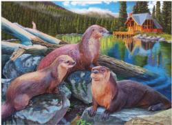 River Otters Cottage / Cabin Jigsaw Puzzle