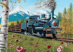 Lumbering Along Trains Jigsaw Puzzle