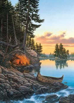 Evening Glow Lakes / Rivers / Streams Jigsaw Puzzle