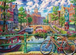 Amsterdam Canal Lakes / Rivers / Streams Jigsaw Puzzle