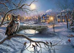 Edge of Town Owl Jigsaw Puzzle